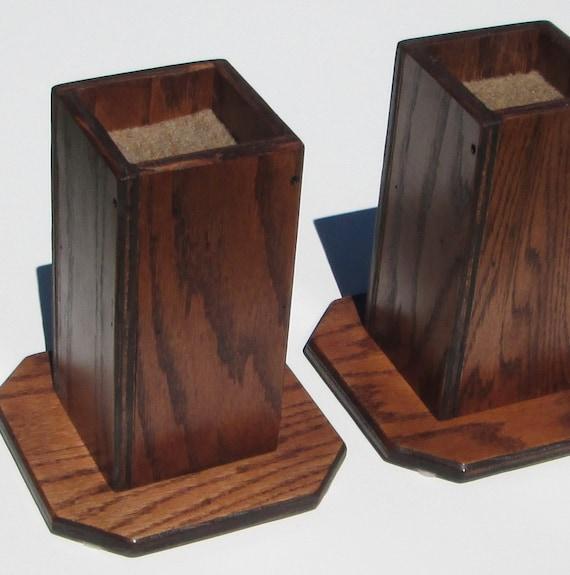 items similar to furniture risers 6 inch all wood construction sleek design lift furniture. Black Bedroom Furniture Sets. Home Design Ideas