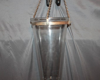 Antique Late 1800's Victorian Funeral Home GRAVITY FLOW EMBALMING Glass Hanging Flask