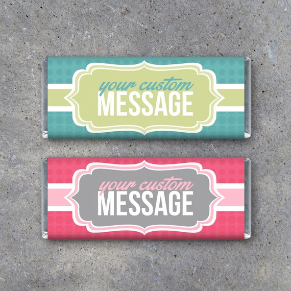 Personalized candy bar wrappers printable wrappers featuring for Custom candy wrappers templates