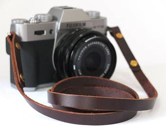 Camera strap leather vintage style