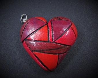 Heart Pendant/mosaic heart/gift for women