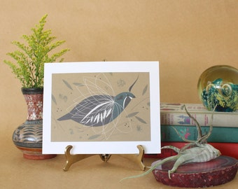 Charley Harper Art,Vintage Mountain Quail Bird Print,MCM Art Print,Bird Ephemera Prints,Charles Harper Art,Charlie Harper art print