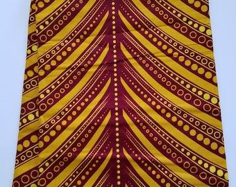 Brown & Yellow African Fabric; Ankara Fabric; African Clothing; African Fabric in yard; African Headwrap;Ankara Fabric in yard; Brown Fabric