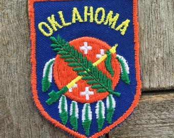 Oklahoma Vintage Souvenir Travel Patch from Baxter Lane