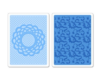 Sizzix Textured Impressions Embossing Folders 2PK - Doily & Lace Set 658516