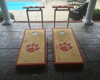Customized Cornhole Boards with Cup Holders