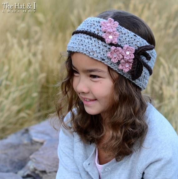 Crochet Headband PATTERN Cherry Blossom Headwrap crochet