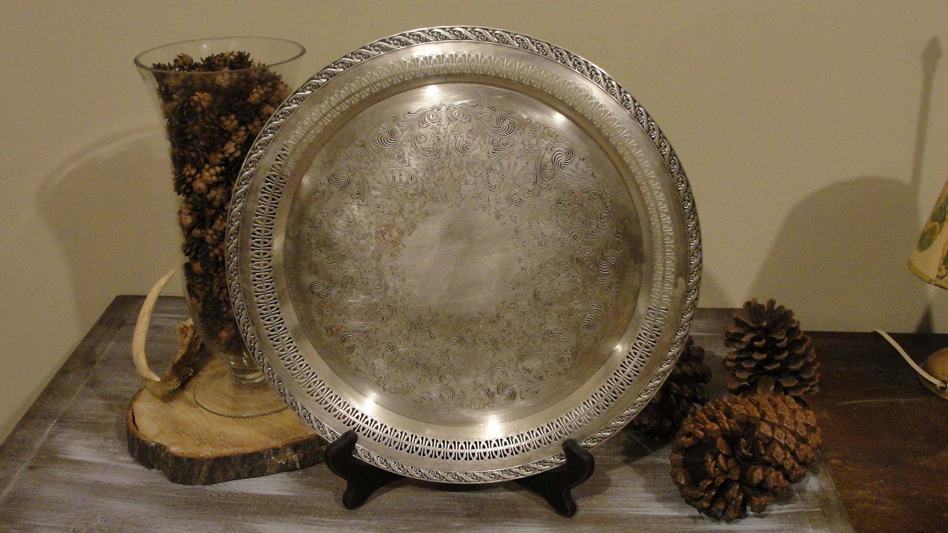 William Rogers And Son 2072 Spring Flower Silverplate Platter