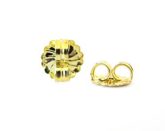 SALE Post Clutch 1 Pair 11mm Large Ear Nut Gold Vermeil F115 or Gold Filled RZ115