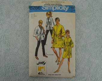 Simplicity Sewing Pattern 8256 kimono robe from 1969 size 10