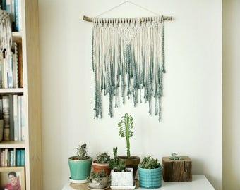 Blue wall hanging, Macrame Wall Hanging, Modern Macrame,  Wall Art, Boho Wall Hanging, Wall Tapestry, Macrame Tapestry, boho decor