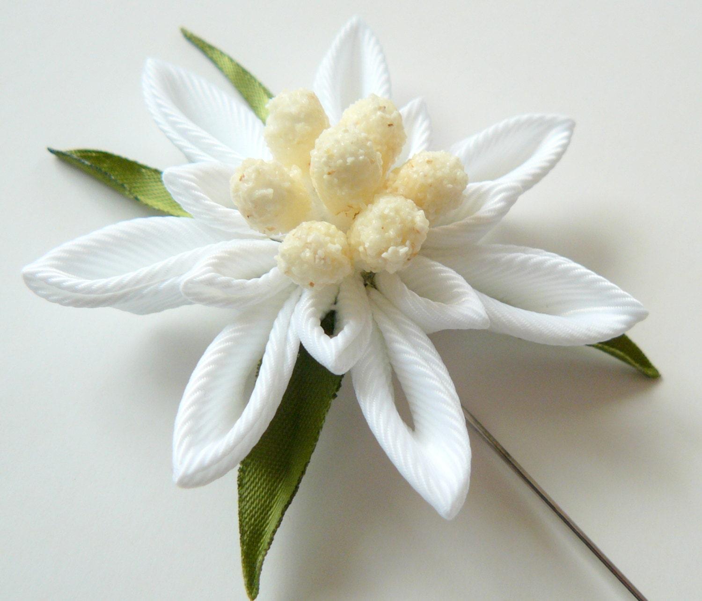 Men S Flower Lapel Pin Austrian Edelweiss Flower Brooch
