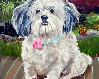 "Large Custom Pet Portraits, Oil Painting by me, artist Robin Zebley, Custom Portrait Art, Personalized 18"" x 24"""