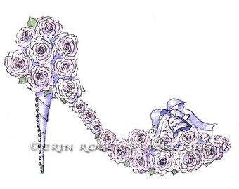 Wedding Bouquet Fantasy Shoe 5x7 print