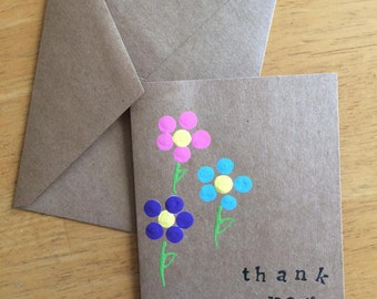 Thank You Cards // Set of 4 // Greeting Cards // Thank You Notes