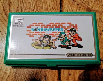Video game kids game and watch Nintendo Bomb Sweeper 1987 double screen batteries new retro vintage retro videogame