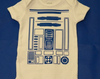 Star Wars R2D2 Body- Choose Size- Onesie or Toddler T-shirt