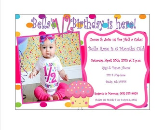 Babys 1 2 Birthday Invitation