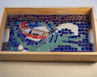 Koi Carp Mosaic Tea Tray