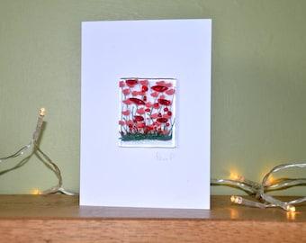 Poppy Card - Blank Inside