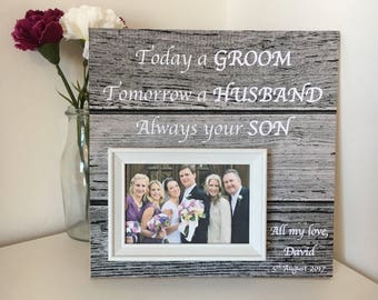 Mother Of The Groom Gift -Thank you parents- Mother In Law Wedding Gift - Mother from son - Gift From Groom - Wedding Gift For Mom