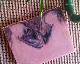 "Savon ""rose de sable"" Argile rouge/ricin/mangue /Santal/rose naturel et bio."