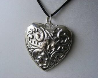 Heart Pendant - 925 Sterling Silver - Hallmarked