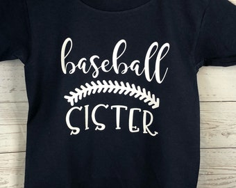 Baseball Sister Shirt Customize with Team Colors and Jersey Number