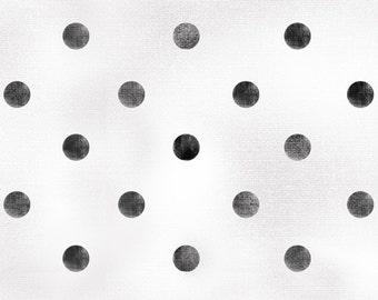 David Textiles Paris Dots Black David Textiles Poka Dot Fabric Black and White Dots Fabric Paris Dots Cotton Fabric David Textiles French