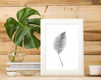 Watercolour leaf design - A4 print of original - high quality acid free paper