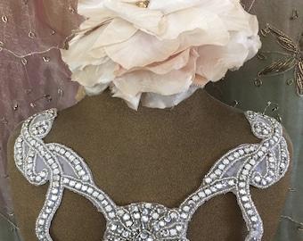 Rhinestone and Clear Beaded Collar