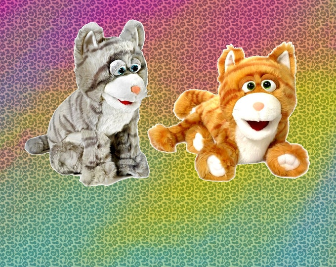 NEW Kitten Puppets, Two Adorable Kitty Cat Puppets!