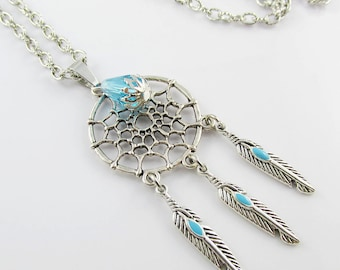 Dreamcatcher Sweater Necklace Charm Pendant Chain Necklace Dream Catcher 75cm
