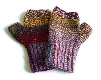 Multicoloured Gloves, Glittery Gloves, Fingerless Gloves, Colorful Gloves, Fingerless Mitts, Sparkly Gloves, Gifts for Mum, Winter Fashion