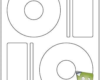 Cd Labels Etsy - Memorex cd label template