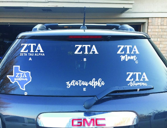Zeta tau alpha car decals 61