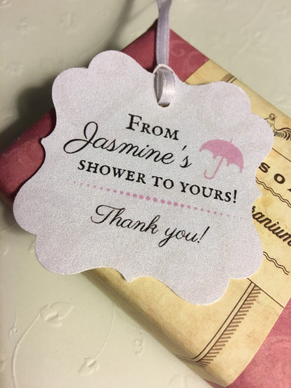 thank you favor tags, baby shower, bridal shower from ...
