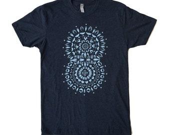 Unisex / Men's Mandala Concentric Design T Shirt Clothing