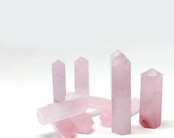 Rose Quartz Crystal Point, Gemstone, Healing Crystal, Helps Open Up To Love and Romance, Great For Crystal Grids, Meditation Stone