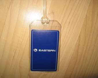 Eastern Airlines Luggage Tag - Vintage EAL Logo Playing Card Suitcase Name Tag