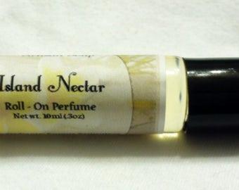 Island Nectar - Roll-On Perfume Oil - Homemade - 10ml - Vegan