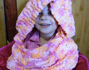 Knitted hooded Cowl