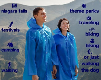 Rain coat, long , waterproof poncho, durable rain coat, waterproof jacket, waterproof coat, womens coat, men coat, mens jacket,  rain jacket