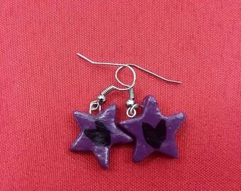 Clint Barton Hawkeye inspired star shaped earrings