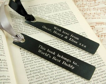 Personalised Bookmark ~ Engraved Birthday, Wedding, Anniversary, Father's Day Gift