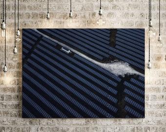 Solar Field Canvas Photo