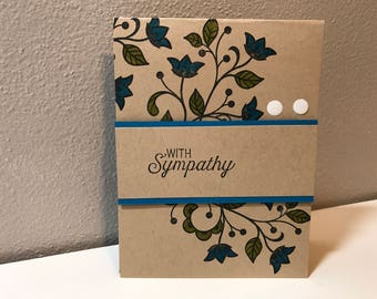 Sympathy, Thinking of You Handmade Stampin' Up! Card, Flowers