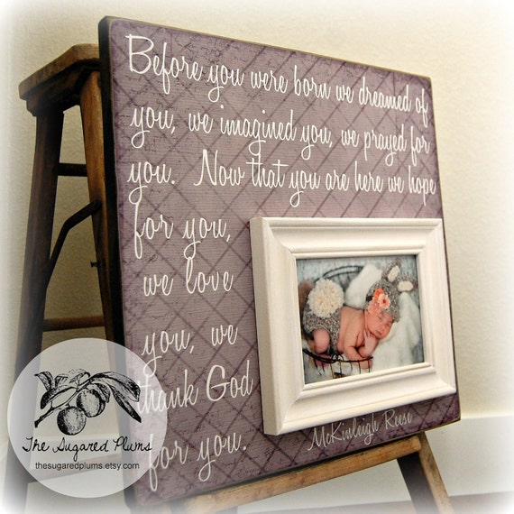 Baby Picture Frame Baby Frame Personalized Baby Frame Baby