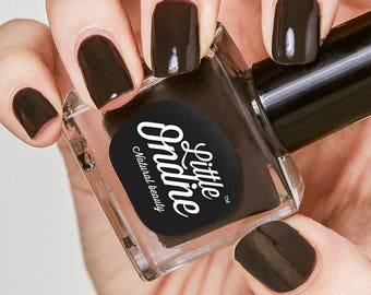 Little Ondine Natural Non-toxic Water-Based Quick Dry Fingernail Lacquer Peel off Nail Polish 10.5ml ( L037-Cacao )Solid Coffee