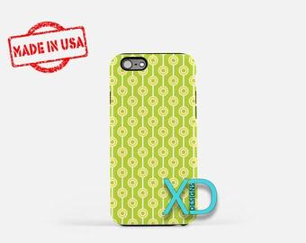 Green Bullseye Phone Case, Green Bullseye iPhone Case, Citrus iPhone 7 Case, Green, Citrus iPhone 8 Case, Bullseye Tough Case, Clear Case